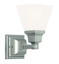 Livex Lighting 1031-35 - 1 Light Polished Nickel Wall Sconce