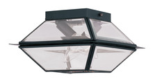 Livex Lighting 2184-04 - 2 Light Black Outdoor Ceiling Mount