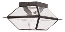 Livex Lighting 2184-07 - 2 Light Bronze Outdoor Flush Mount