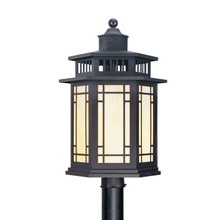 Livex Lighting 2398-07 - 1 Light Bronze Outdoor Post Lantern