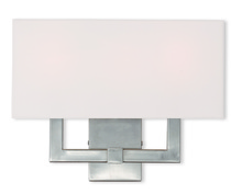 Livex Lighting 51104-91 - 3 Light Brushed Nickel Wall Sconce