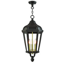 Livex Lighting 76193-07 - 3 Lt BZ Outdoor Pendant Lantern