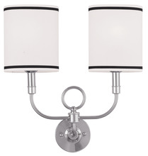 Livex Lighting 9122-91 - 2 Light Brushed Nickel Wall Sconce