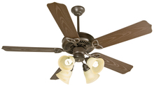 "Craftmade K10430 - Outdoor Patio 52"" Ceiling Fan Kit with Light Kit in Brown"