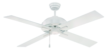 "Craftmade SB52W4 - South Beach 52"" Ceiling Fan with Blades and Light in White"