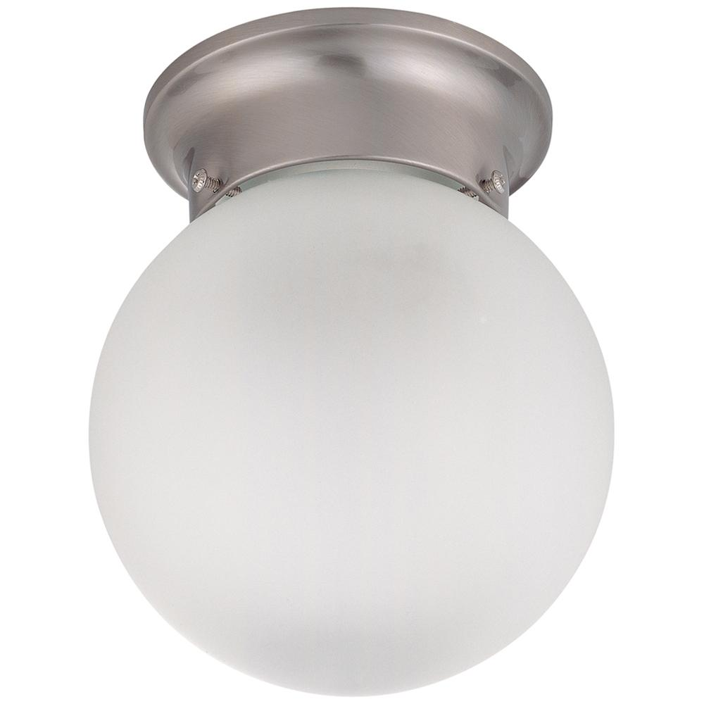 1 LIGHT ES 6 BALL CEILING Brushed Nickel