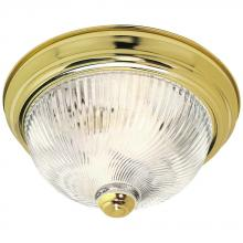 Satco 76/024 - 2 LIGHT 11 IN FLUSH MOUNT Polished Brass