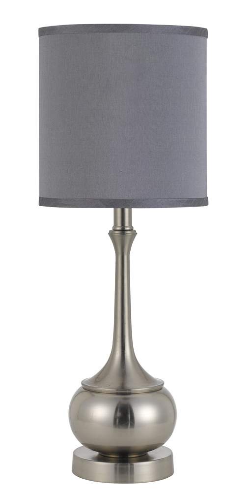 "24.5"" Height Metal Accent Lamp In Brushed Steel"