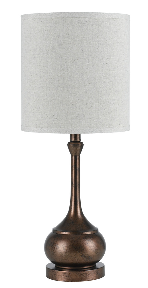 "24.5"" Height Metal Accent Lamp In Rust"