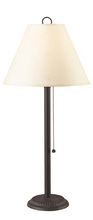 "CAL Lighting BO-904TB-OW - 27.5"" Height Metal Table Lamp In Black Rust Finish"