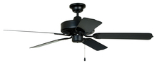 "Ellington Fan WOD52MBK5P - Cove Harbor 52"" Ceiling Fan with Blades in Matte Black"