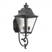 ELK Lighting 1107-C - Three Light Charcoal Wall Lantern