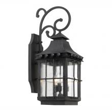 ELK Lighting 8451-E - Taos Outdoor Wall Lantern In Espresso Finish Wit